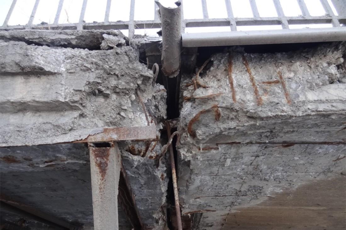 Дефекты железобетонной плиты проезжей части