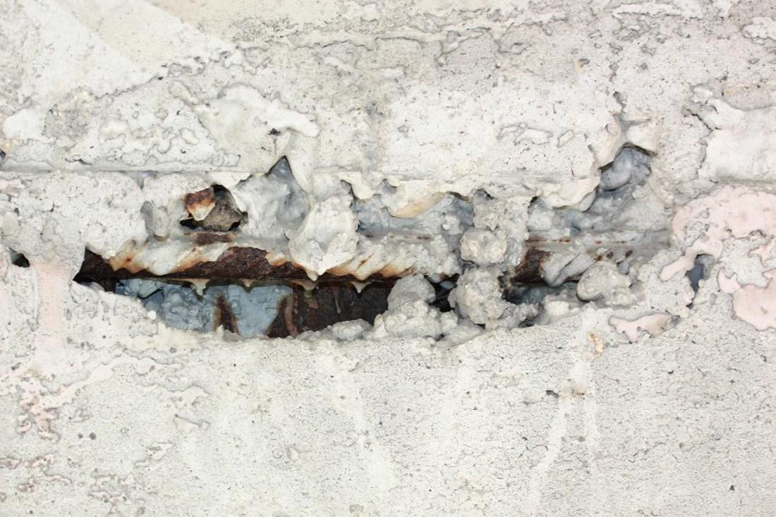 Каверны в бетоне