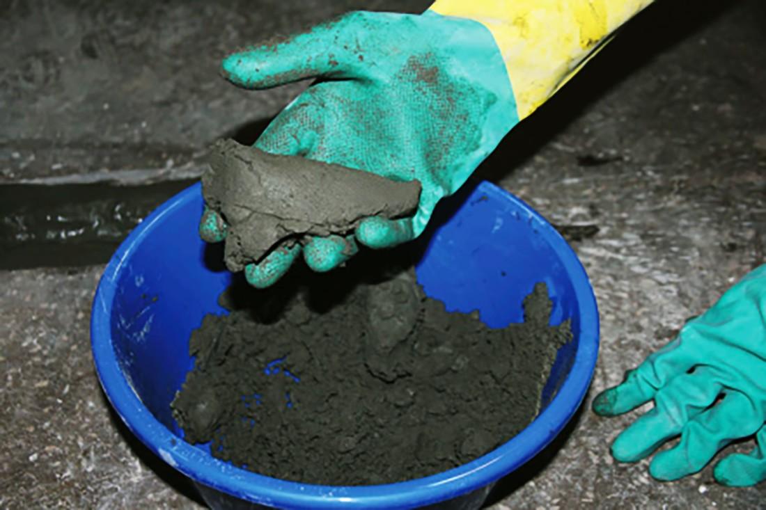 Приготовление растворной смеси «Пенекрит»