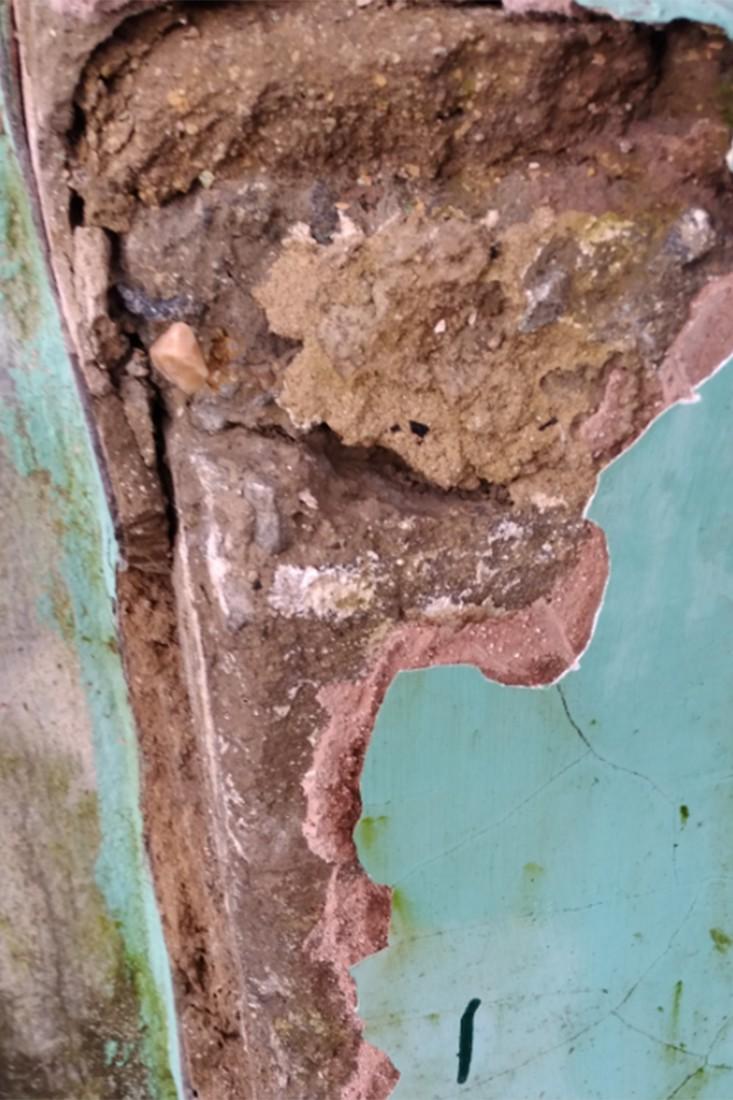 Использование смеси на основе гипса для ремонта фасадов зданий категорически запрещено